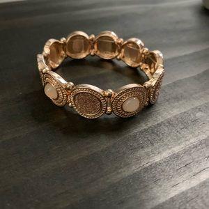 Charming Charlie rose gold bracelet.